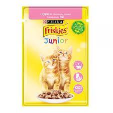 Friskies Junior (Фріскіс Юніор) консерви для кошенят з куркою в підливі 85 г * 26 шт