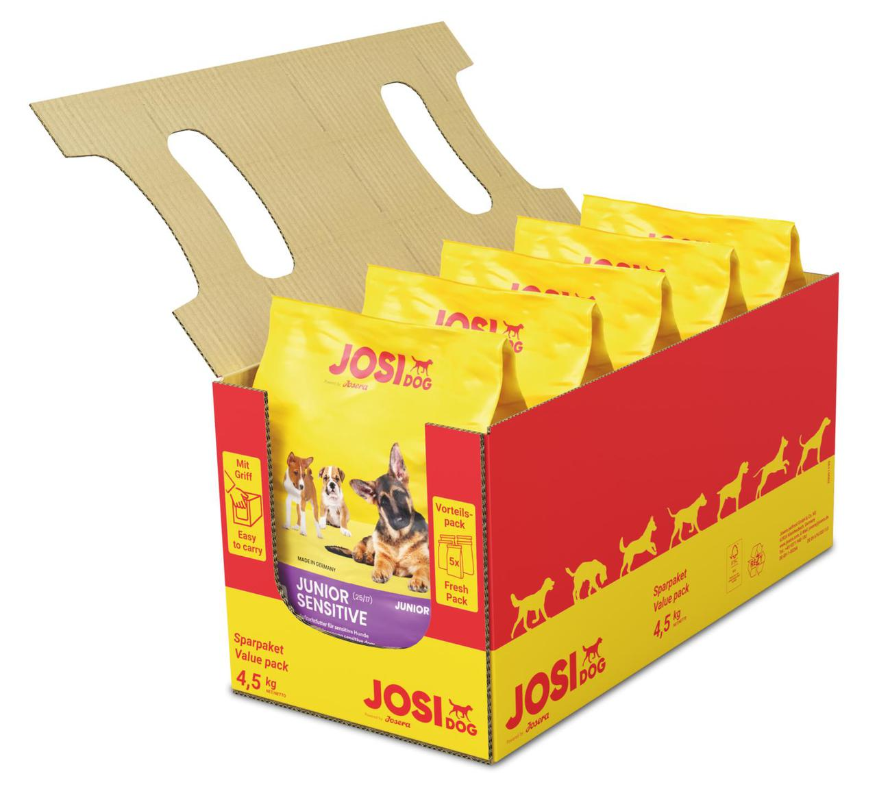 Josera JosiDog Junior Sensitive 4.5 кг сухой корм для щенков всех пород от 2 месяцев