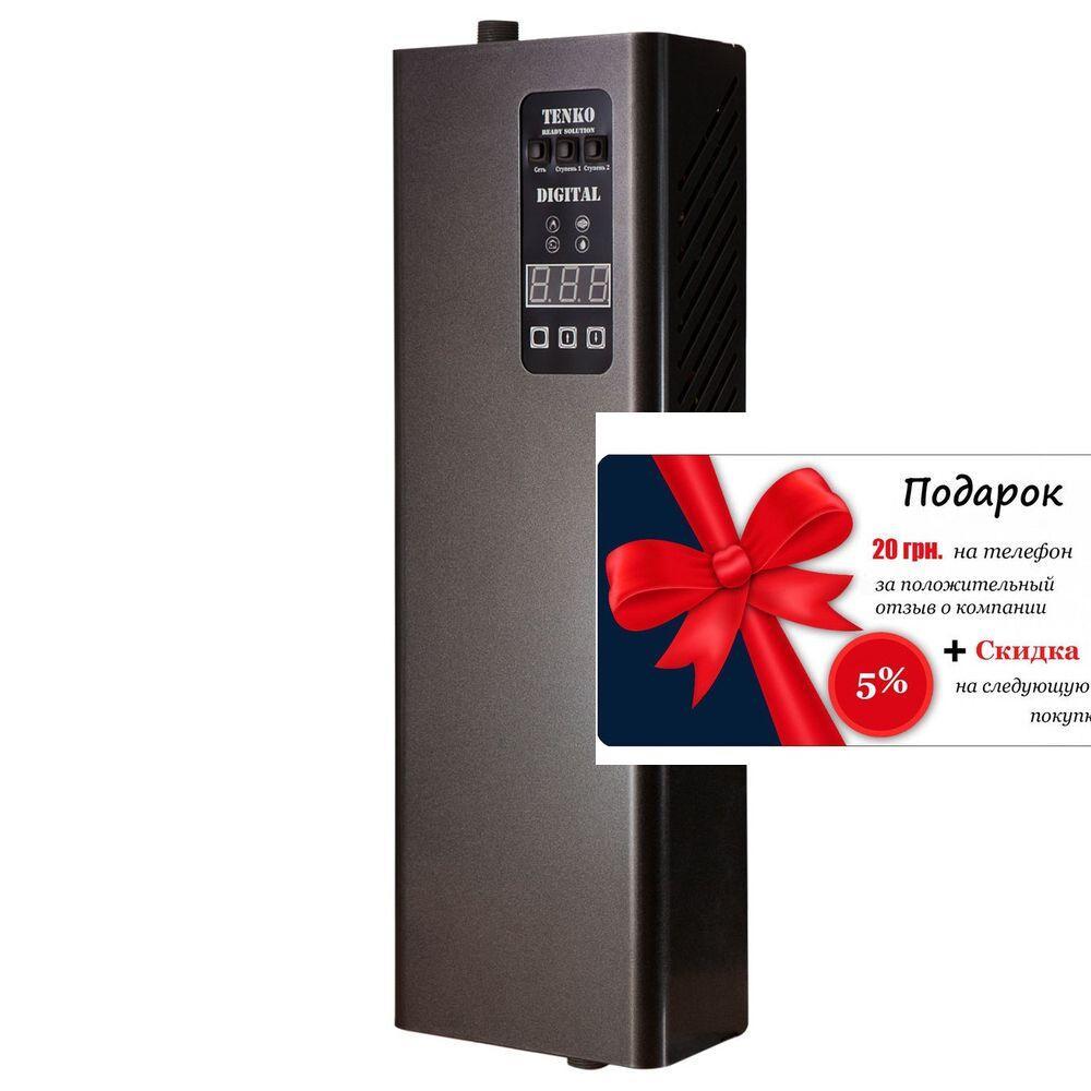 Опалювальний електричний котел 6 кВт Tenko 380 V Digital DKE