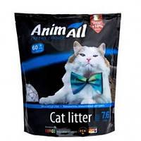 AnimАll Голубой аквамарин 7.6 л, 3.2 кг - Силикагелевый наполнитель для кошачьего туалета