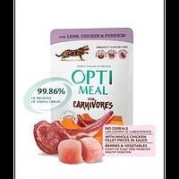 Optimeal консерва для котів з ягням і курячим філе в кавунових желе 0,085 кг х 12 шт