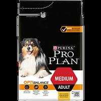 Корм Pro Plan Medium Chiken 14 кг для собак средних пород с курицей