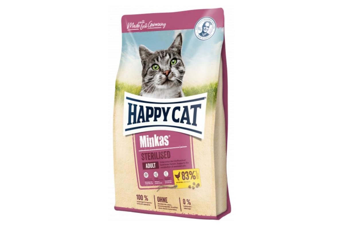 Корм Happy Cat Minkas Sterilised 0,5 кг для дорослих стерилізованих кішок і кастрованих котів