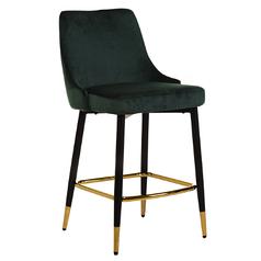 Полубарный стілець B-128 смарагдовий вельвет