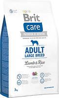 Brit Care Adult Large Breed Lamb & rice 3 кг - корм для дорослих собак великих порід з м'ясом ягняти і рисом