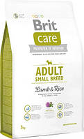 Brit Care Adult Small Breed Lamb & rice 3 кг - корм для дорослих собак дрібних порід з м'ясом ягняти і рисом