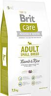 Brit Care Adult Small Breed Lamb & rice 7,5 кг - корм для дорослих собак дрібних порід з м'ясом ягняти і рисом