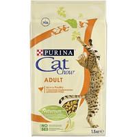 Корм Cat Chow Adult с курицей и индейкой 15 кг для взрослых кошек