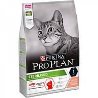 Корм Pro Plan Sterilised 10 кг с лососем для кастрированных котов и стерилизованных кошек