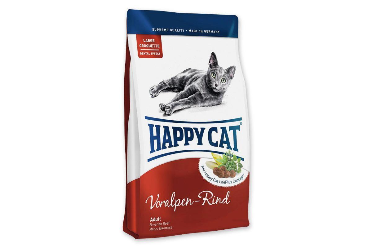 Корм Happy Cat Supreme Adult Voralpen-Rind 4 кг для дорослих кішок від 7 років і старше, з яловичиною