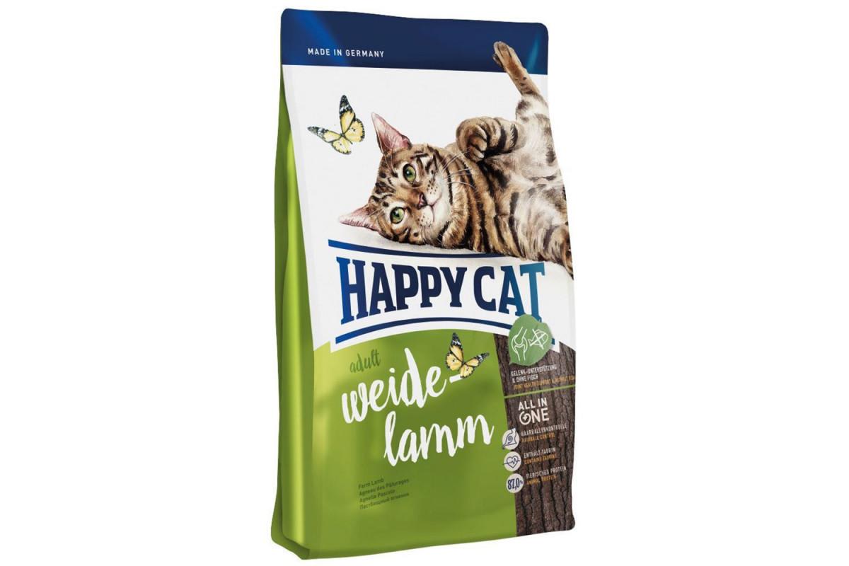 Сухий корм Happy Cat Supreme Adult Weide-Lamm 4 кг для дорослих кішок від 12 місяців, з ягням