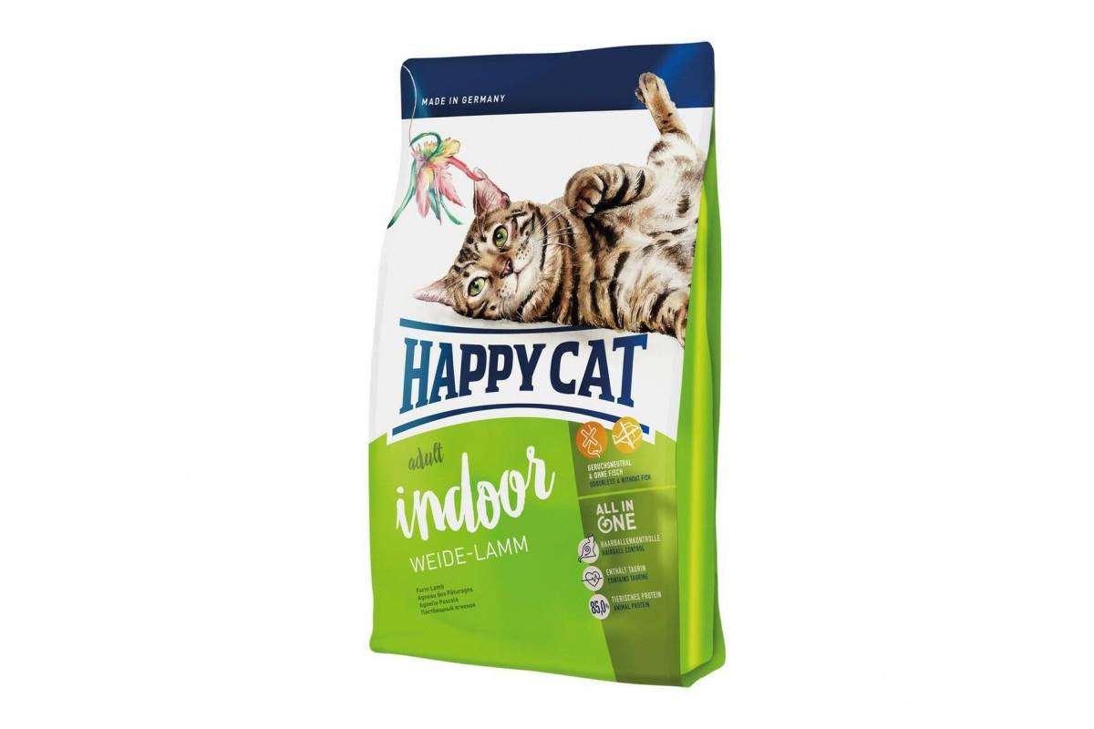 Корм Happy Cat Supreme Indoor Weide Lamm 10 кг при чутливому травленні для дорослих кішок