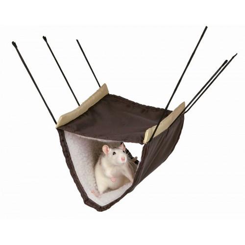 Гамак двухэтажный для грызунов (нейлон) 22х15х30 см