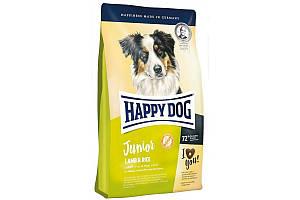 Корм Happy Dog Junior Lamb & Rice 1 кг для щенков с чувствительным пищеварением от 7 до 18 месяцев