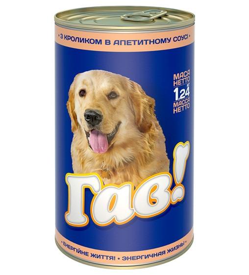 Гав консерви для собак з кроликом 1,24 кг х 12 шт