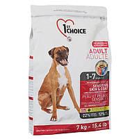 1st Choice Sensitive Skin&Coat Adult Lamb&Fish 7 кг корм для взрослых собак с ягненком и рыбой
