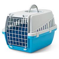 Savic ТРОТТЭР1 (Trotter1) переноска для собак и котов, пластик, 49Х33Х30 см светло-серый/салатовый