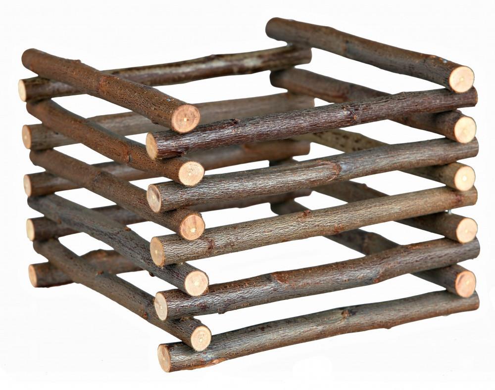Контейнер для сіна і трави (дерево) 15х11х15 см, колоди