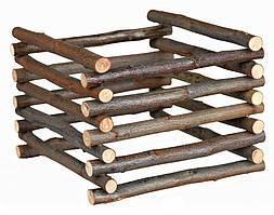 Контейнер для сена и травы (дерево) 15х11х15 см, брёвна