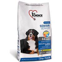 1st Choice 14 кг ФЕСТ ЧОЙС сухой корм для пожилых или малоактивных собак средних и крупных пород