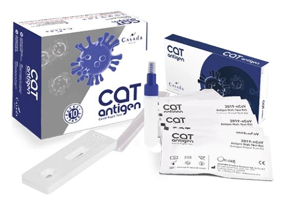 Експрес-тест на антиген CAT Antigen-Schnelltest Casada 10шт. (Німеччина)