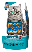 Корм Пан Кот з рибою 10 кг для здоров'я шкіри і блискучої вовни у кішок