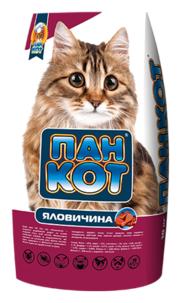 Корм для кошек Пан Кот с говядиной 10 кг