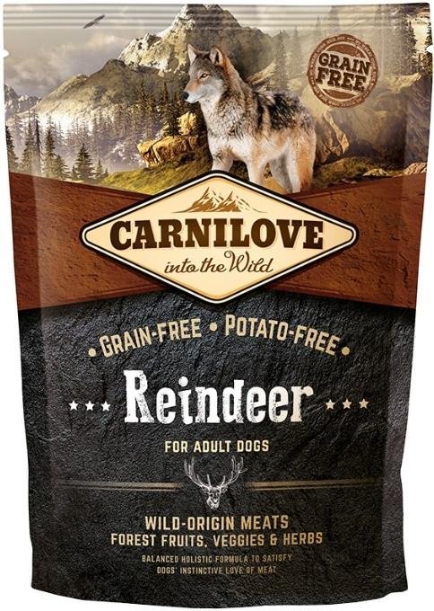 Carnilove Adult Raindeer 1,5 кг сухой беззерновой корм для взрослых собак всех пород