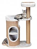 Домик для кота Falco 117 см, серый/коричневый