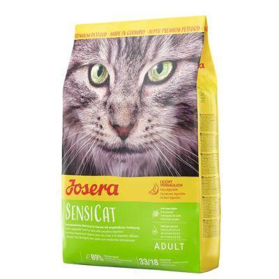 Корм Josera SensiCat 10 кг для кішок з чутливим травленням (качка, індичка)