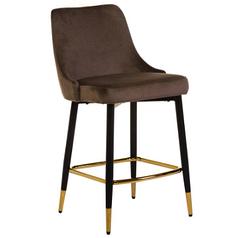 Полубарный стілець B-128 мокко вельвет