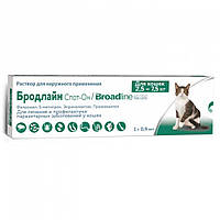Merial Broadline (Бродлайн) Спот-он для кошек L (2.5-7.5кг), шприц-аппликатор,упаковка 3 шт