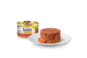 Gourmet Gold консервы для котов 85 г х 12 шт - биточки с говядиной и томатом