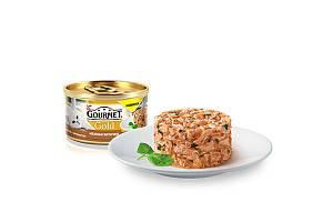 Gourmet Gold консервы для котов 85 г х 12 шт - биточки с индейкой и шпинатом