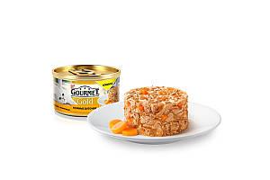 Gourmet Gold консервы для котов 85 г х 12 шт - биточки с курицей и морковью