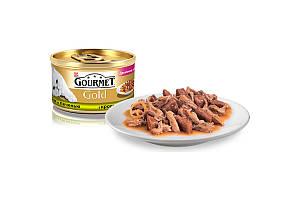 Gourmet Gold консервы для кошек 85 г х 24 шт - кусочки из печени кролика в подливе
