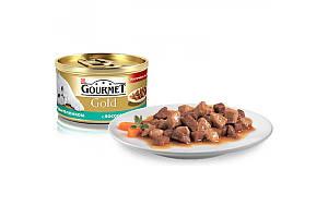 Gourmet Gold консервы для кошек 85 г х 24 шт - кусочки лосося с курицей в подливе