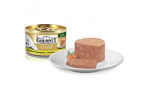 Gourmet Gold консервы для кошек 85 г х 24 шт - Кусочки в паштете с кроликом по французски