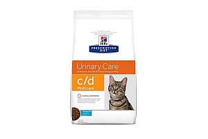 Hills Prescription Diet c/d Multicare Urinary Care With Ocean Fish 1,5 кг лечебный корм для кошек всех пород