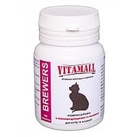 VitamAll (ВітамОлл) Кормова добавка з пивними дріжджами і часником для котів 100 табл / 50 г.