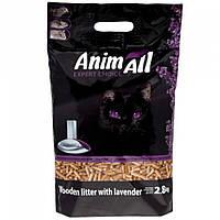 AnimAll с ароматом лаванды 2.8 кг - Древесный наполнитель для котов