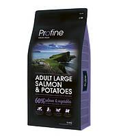 Profine Adult Large Breed Salmon & Potatoes сухий корм для дорослих собак великих порід з лососем і картоплею