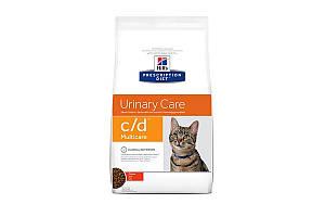 Hills Prescription Diet c/d Multicare Urinary Care 10 кг лечебный сухой корм для кошек всех пород, курица