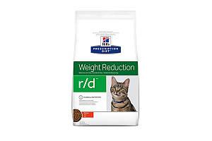 Hills Prescription Diet Feline r/d Weight Reduction 1,5 кг сухой корм для кошек с избыточным весом