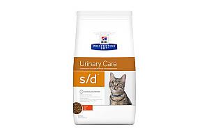 Hills Prescription Diet Feline s/d Urinary Care 1,5 кг сухой корм котам, для растворения струвитных уролитов