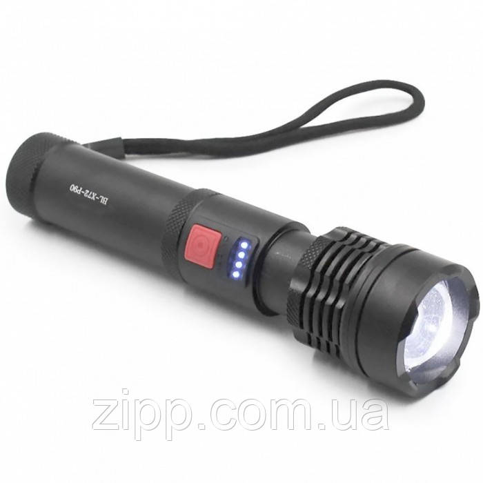 Фонарик ручной BAILONG BLX72-P90 | Фонарь влагостойкий | Яркий фонарик | Мощный фонарь | Аккумуляторный фонарь