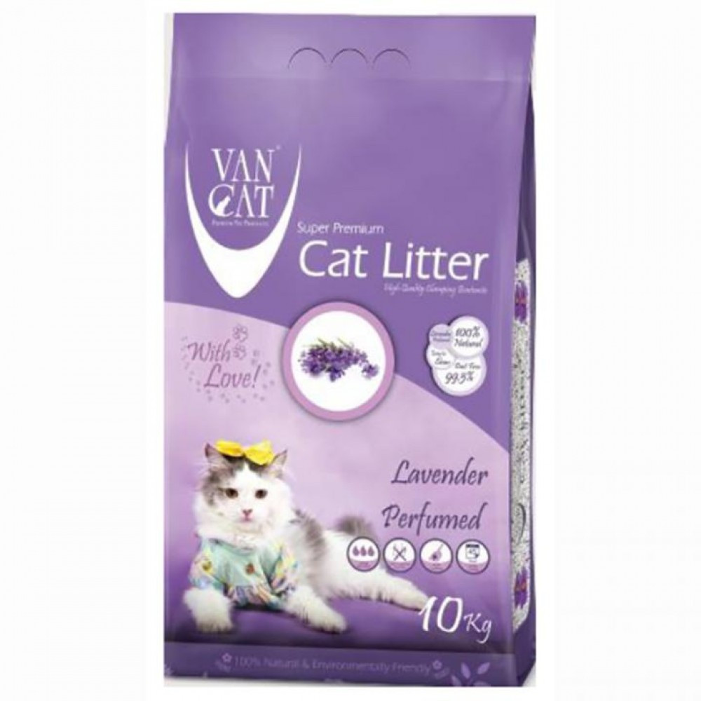 Van Cat Lavender 10 кг - Бентонітовий наповнювач для туалету