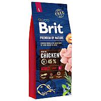 Brit Premium Adult Lсухой корм для взрослых собак крупных пород с курицей 3 кг