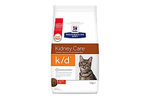 Hills Prescription Diet k/d Kidney Care With Chicken 1,5кг сухой корм для кошек при заболевании сердца и почек