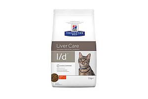 Hills Prescription Diet l/d Liver Care 1,5 кг сухой корм для кошек с заболеваниями печени, курица